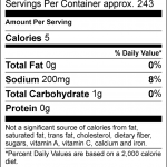 SOS nutritional Facts 12oz