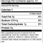 SOS nutritional Facts 3oz