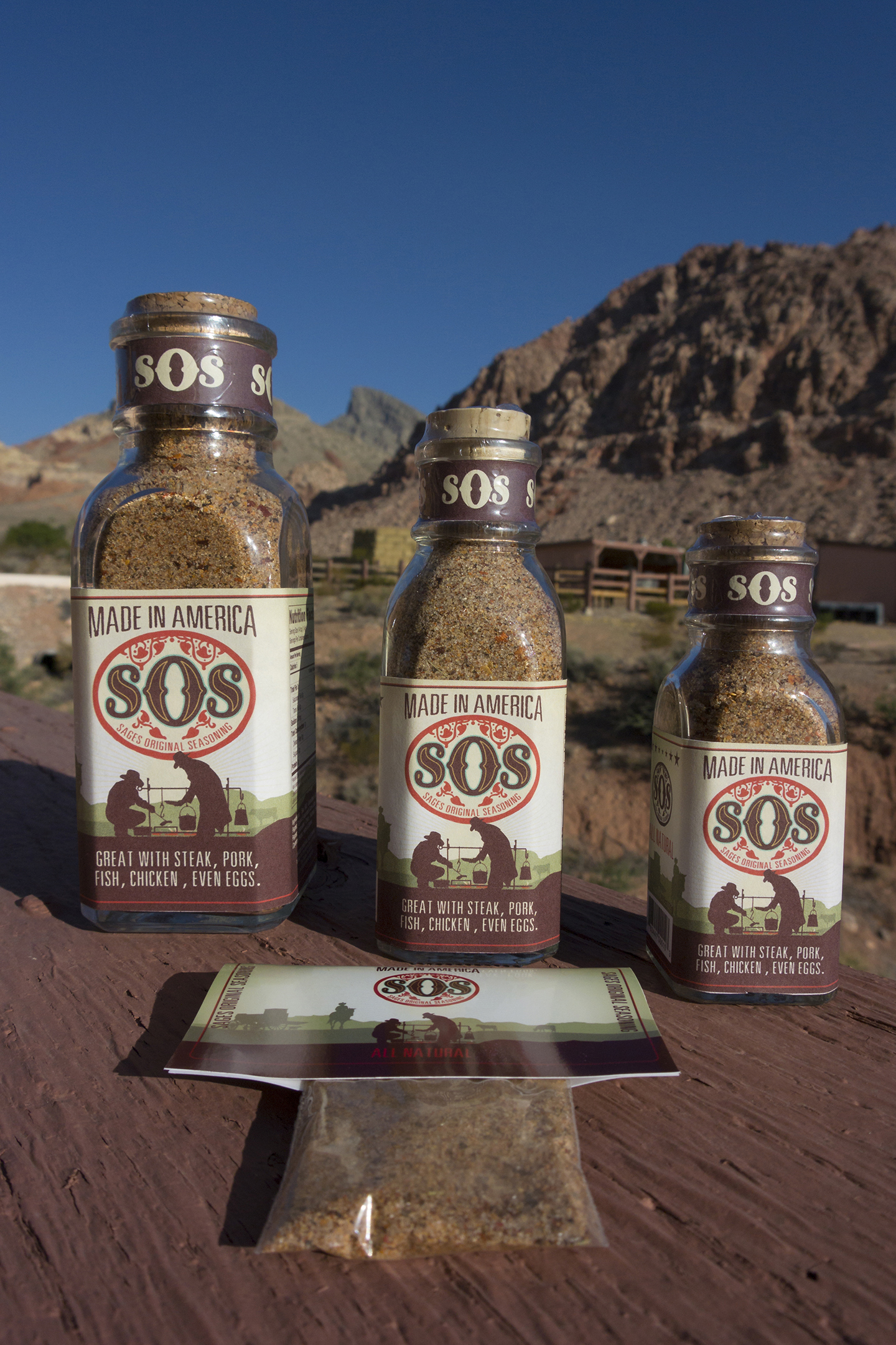 Sages Original Seasoning in 3oz, 6oz and 12 oz bottles